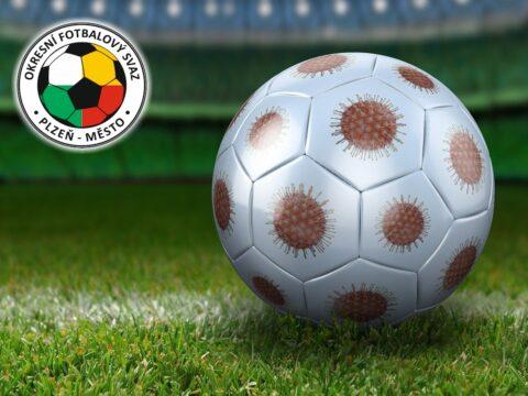 Fotbalový míč jako coronavirus
